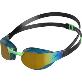 speedo Fastskin Elite Mirror Lunettes de protection, black/nordic teal/gold